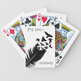 The Raven, Black and White Bicycle Playing Cards
