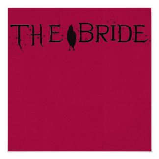 The Raven Bride Personalized Announcements