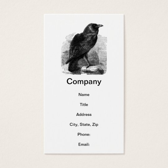 The Raven by Edgar Allen Poe Business Card