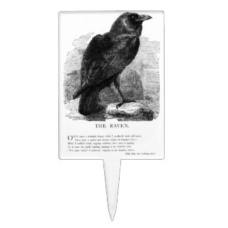 The Raven by Edgar Allen Poe Cake Toppers