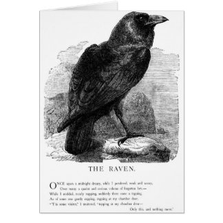 The Raven by Edgar Allen Poe Greeting Card
