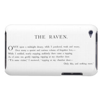 The Raven by Edgar Allen Poe iPod Touch Case