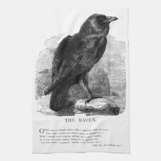 The Raven by Edgar Allen Poe Kitchen Towel