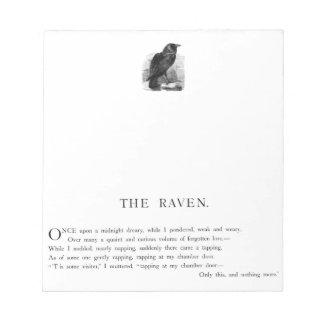 The Raven by Edgar Allen Poe Notepad
