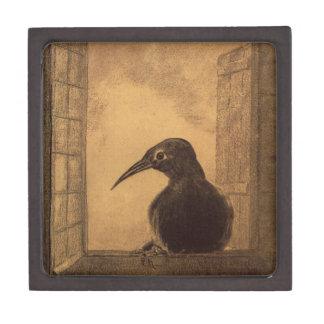 The Raven by Odilon Redon Premium Trinket Boxes