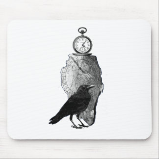 The Raven, Crow and runestone Mouse Pad