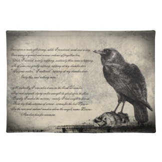 The Raven Distressed Style Gothic Horror Cloth Placemat