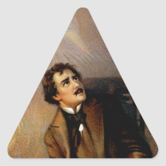 """The Raven"" Edgar Allan Poe ~ Henry Ludlowe 1908 Triangle Sticker"