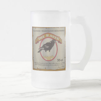 The Raven Frosted Glass Beer Mug