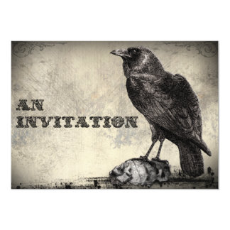 "The Raven Gothic Horror Halloween Party Invitation 5"" X 7"" Invitation Card"