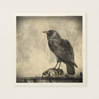 The Raven Gothic Horror Illustration Napkin