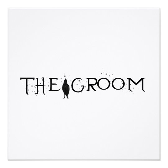 The Raven Groom Card