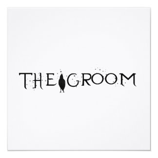 The Raven Groom Personalized Announcements