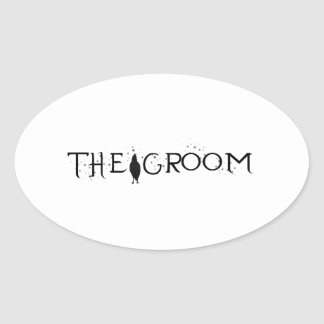 The Raven Groom Oval Sticker