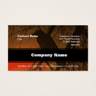 The Raven Halloween Business Card