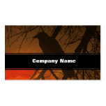 The Raven Halloween Business Card Template
