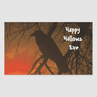 The Raven Halloween Rectangular Sticker