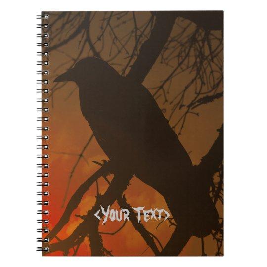 The Raven Halloween Spiral Notebook