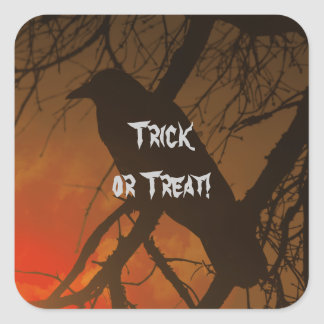 The Raven Halloween Square Sticker