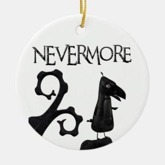 The Raven in the Woods Ceramic Ornament