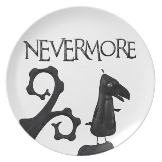 The Raven in the Woods Melamine Plate