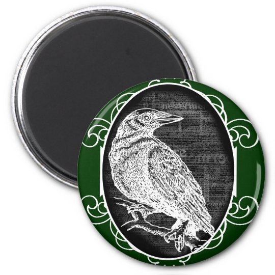 """The Raven"" inspired graphic design Magnet"