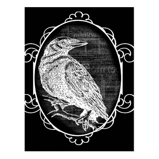 """""""The Raven"""" inspired graphic design Postcard"""