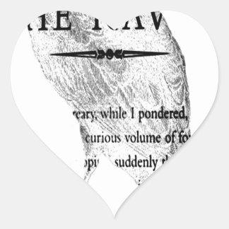 The Raven.jpg Heart Sticker