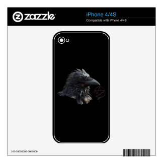 """""""The Raven Lord"""" Raven Crow iPhone Skin iPhone 4S Skins"""