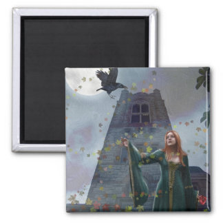 The Raven (Magnet) 2 Inch Square Magnet