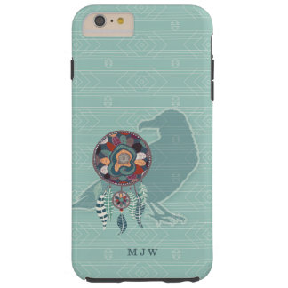 The Raven Monogrammed Native American in Teal Tough iPhone 6 Plus Case