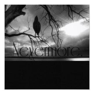 The Raven - Nevermore Sunbeams Tree B&W Custom Announcement