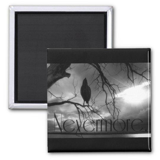 The Raven - Nevermore Sunbeams & Tree B&W Magnet