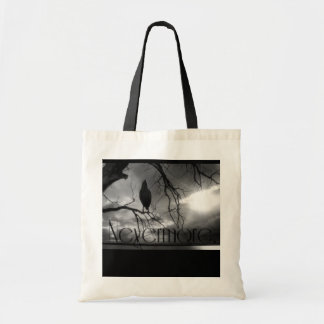 The Raven - Nevermore Sunbeams & Tree B&W Tote Bag
