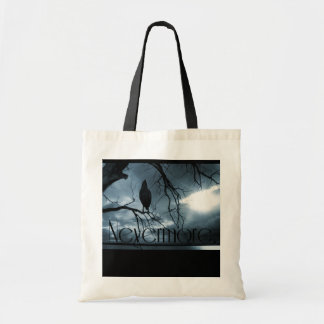 The Raven - Nevermore Sunbeams & Tree Blue Budget Tote Bag