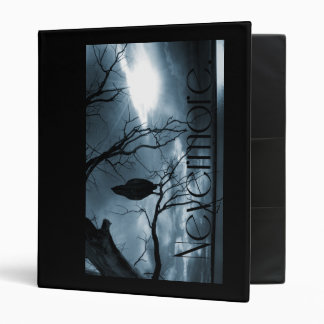 The Raven - Nevermore Sunbeams & Tree Blue Binder