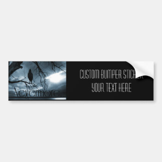 The Raven - Nevermore Sunbeams & Tree Blue Bumper Sticker