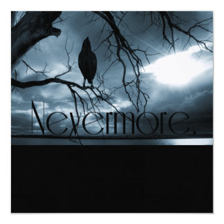 The Raven - Nevermore Sunbeams & Tree Blue Card