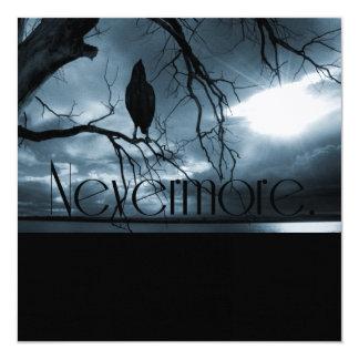 The Raven - Nevermore Sunbeams & Tree Blue Invitation