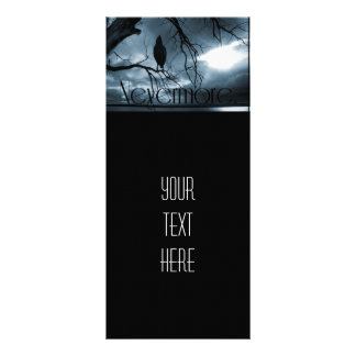 The Raven - Nevermore Sunbeams Tree Blue Rack Card Design