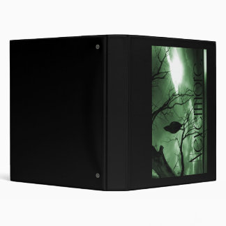 The Raven - Nevermore Sunbeams Tree - Green 3 Ring Binders