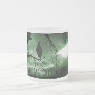 The Raven - Nevermore Sunbeams Tree - Green Frosted Glass Coffee Mug