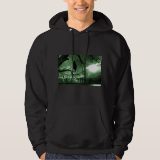 The Raven - Nevermore Sunbeams Tree - Green Hoodie