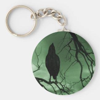 The Raven - Nevermore Sunbeams Tree - Green Keychain