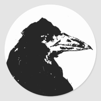 The Raven of Edgar Allan Poe Classic Round Sticker