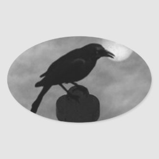 ThE RaVEN Oval Sticker