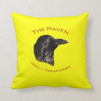 The Raven Throw Pillows