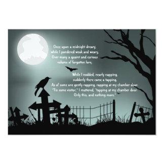 The Raven Poe Halloween Party Invitation