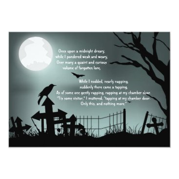Halloween Themed The Raven Poe Halloween Party Invitation