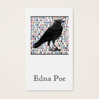 The Raven Profile Or Business Cards